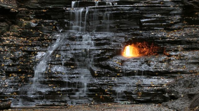 Eternal Flame Falls, Orchard Park, NY