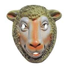 Plastic Sheep Half Mask | Simply Party Supplies