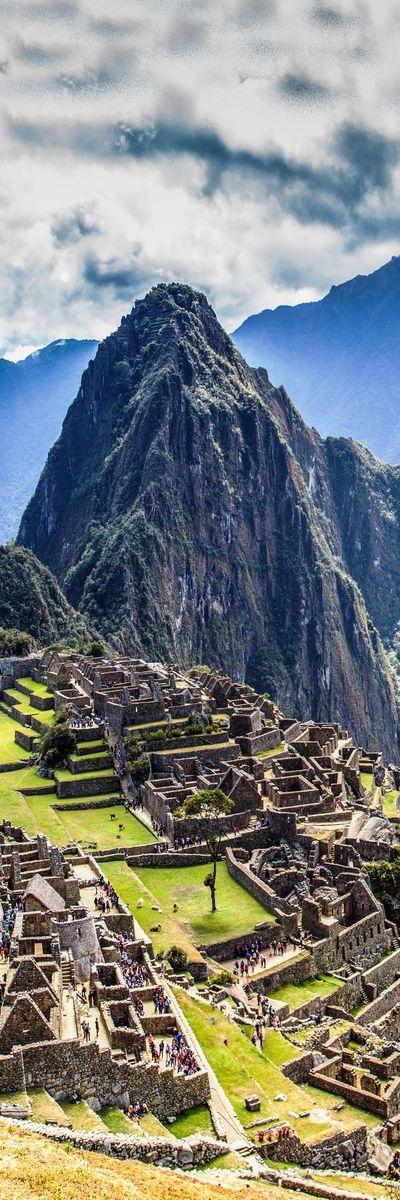 En el gran Machu Picchu en Perú.