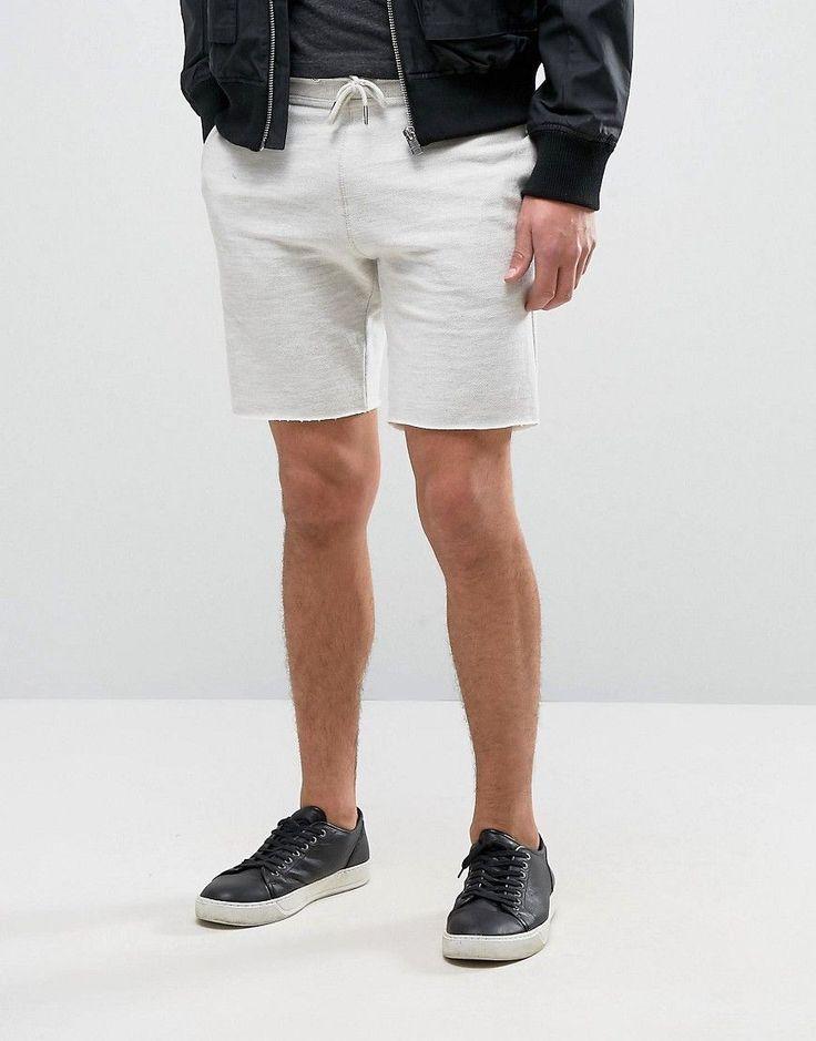 New Look Jersey Shorts In Cream - Beige