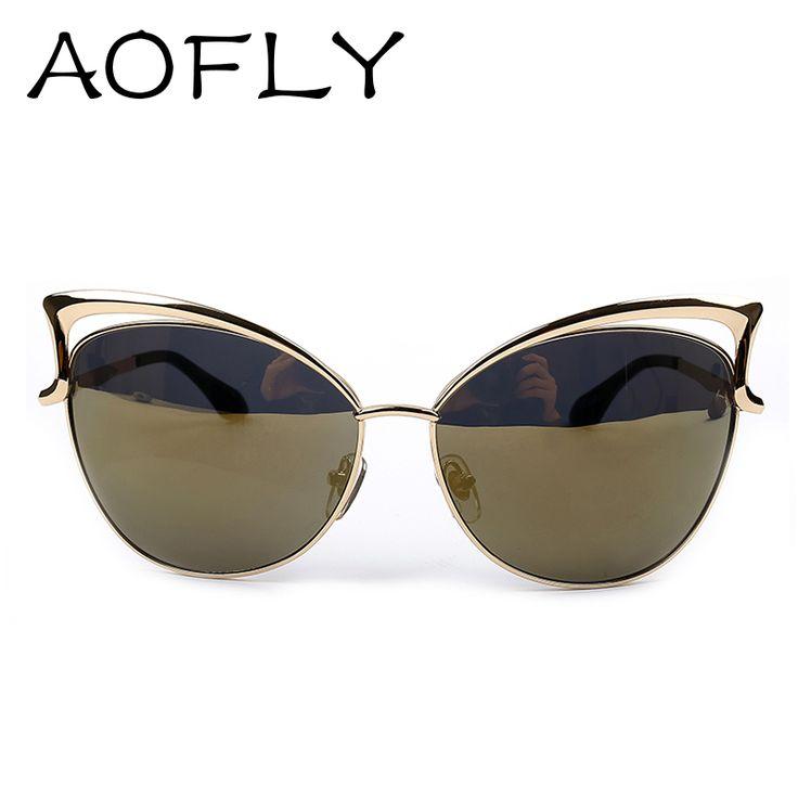 women's eyeglass frames 2015 j2wb  2015 New Metal Frame Dita Sexy Cat Eye Sunglasses for Women Coating Brand  vintage sun glasses
