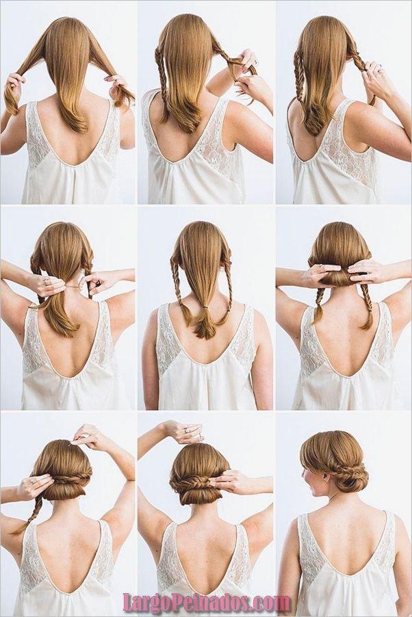 15 Sencillos Peinados Paso A Paso Para Cabello Largo Peinados Victorianos Peinados Faciles Pelo Corto Peinados Poco Cabello