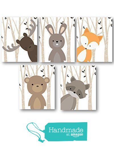 Boy Nursery Art, Woodland Nursery Animals, Baby Room Decor, Set of 5 PRINTS ONLY, Frames or Mats are NOT Included. Must be Framed by you to be hung. from Little Pergola Art https://www.amazon.com/dp/B01EIE0AEY/ref=hnd_sw_r_pi_dp_nhPizbK6EMH2K #handmadeatamazon