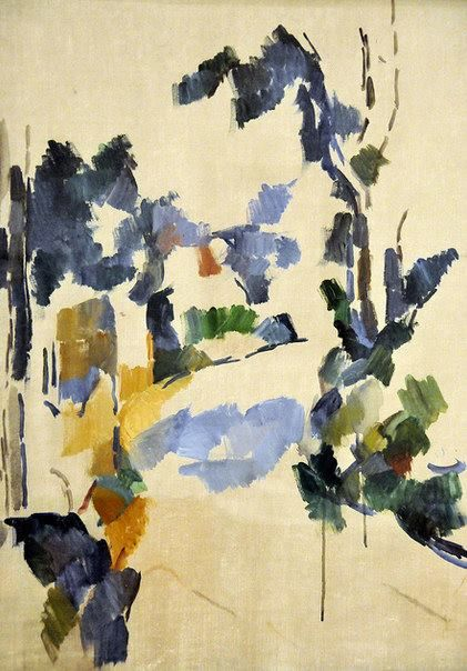 Paul Cézanne (1839-1906)Study of Trees.Harvard Art Museum