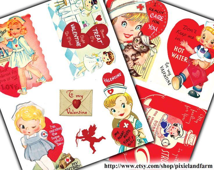 Valentine Nurse Printable Digital Download by pixielandfarm on Etsy https://www.etsy.com/listing/222132646/valentine-nurse-printable-digital