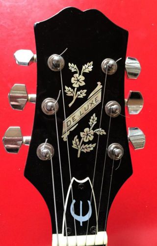 Vintage deluxe epipnone flower inlay sticker decal guitar headstock