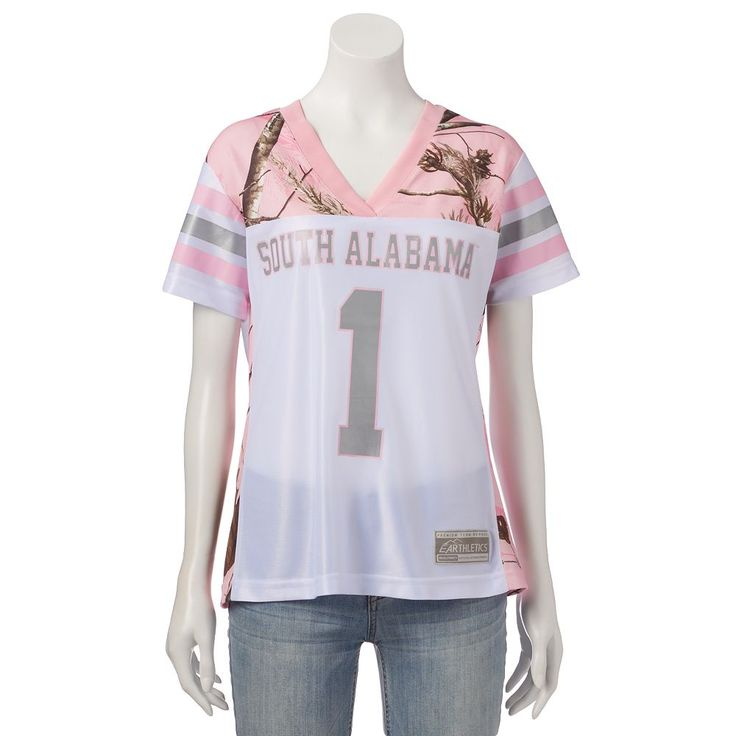 Women's Realtree South Alabama Jaguars Game Day Jersey, Size: Medium, White