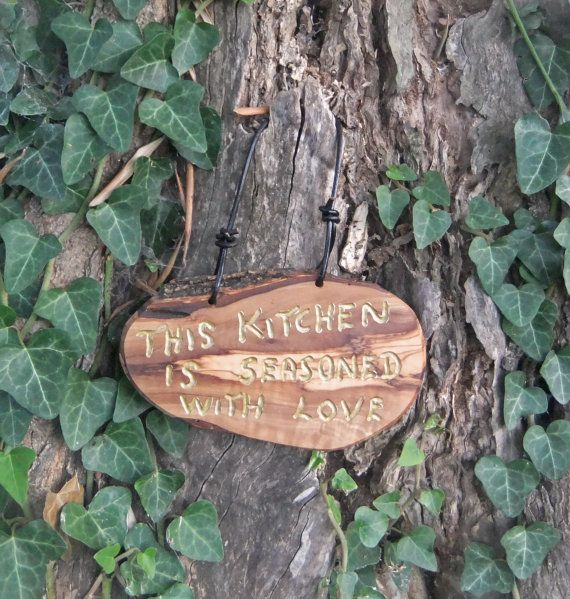 olive wood kitchen wall plaque  This Kitchen Is by ellenisworkshop, $38.00