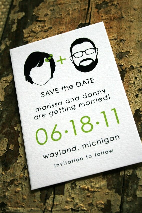 Bride and groom silhouettes save the date.  At Jack and Jill Wedding you will find a unique selection of custom wedding invites, save the dates and wedding stationery!. #invites, #wedding