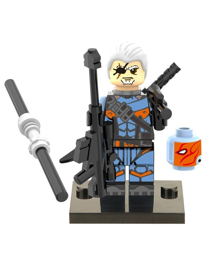 tashred32 Lego Custom Deathstroke Minifigures Super Heroes Avengers Terminator Building Marvel Blocks: Amazon.co.uk: Toys & Games