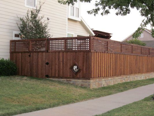 Retaining wall fence ideas images for the yard for Garden wall fence ideas