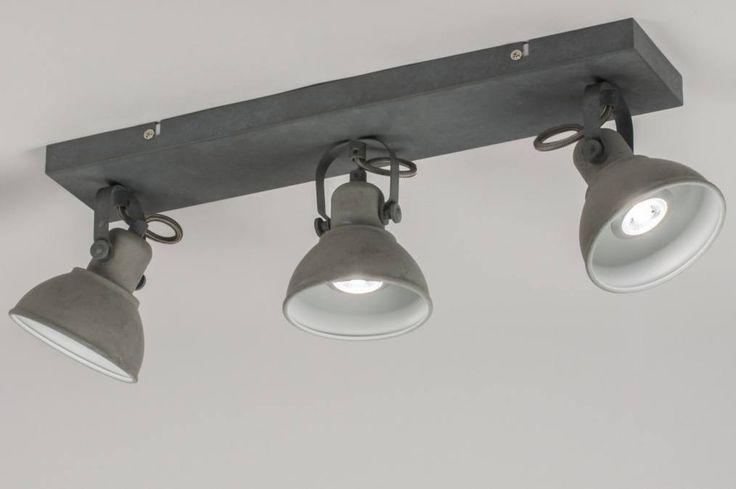 Plafondlamp 11072: landelijk rustiek, industrie, look, stoere lampen