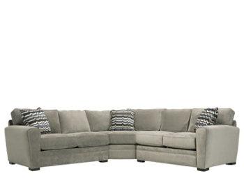 Artemis II 3-pc. Microfiber Sectional Sofa