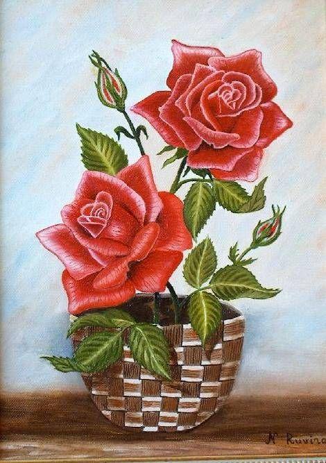 Resultado de imagen para cuadros de flores al oleo