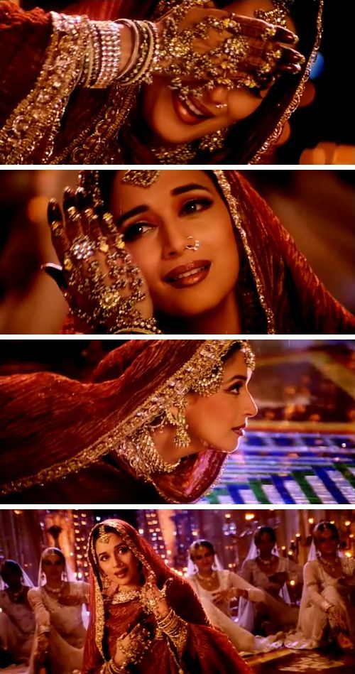 Madhuri Dixit as Chandramukhi in the Hindi film Devdas (2002).