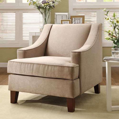 Microfiber chair taupe taupe walmart and chairs for Microfiber accent chairs living room