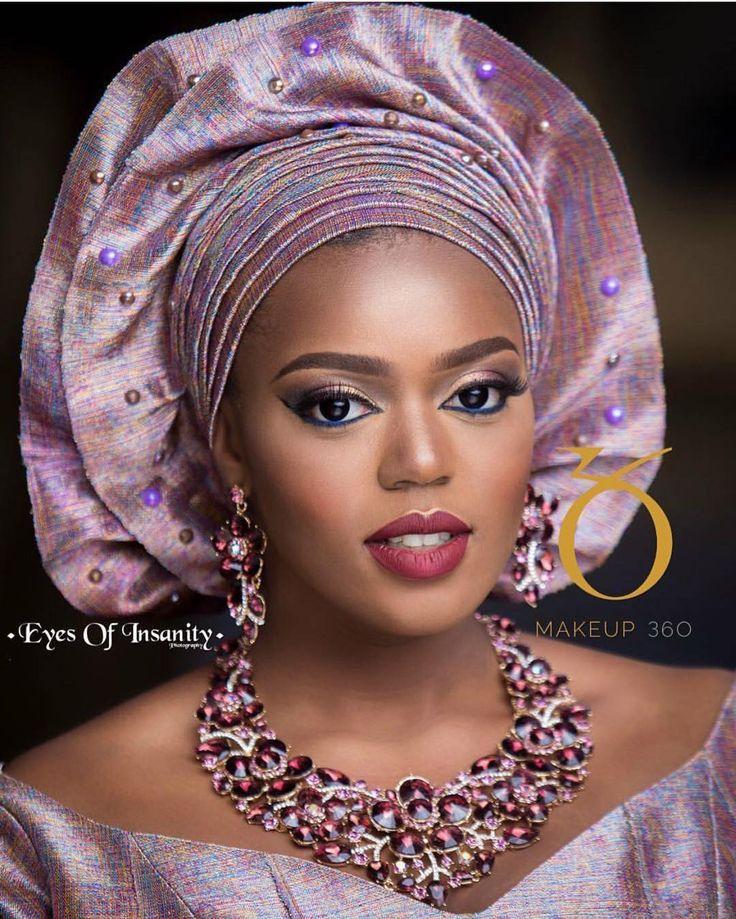 Perfection ! ❤️ : @eyesofinsanity / MUA @makeup_360 / Accessories: @beadsbyoma / Aso Oke: @asoebi_h.o.m.e #BellaNaijaWeddings
