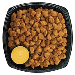 Chilled Chick-fil-A® Nuggets (COOKED & CHILLED FOR LATER).   Small (Serves 8 to 10) $26.00 Medium (Serves 15 to 20) $46.50 Large (Serves 25 to 33) $75.5