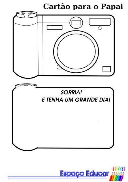 Cartão para o Dia dos Pais modelo máquina fotográfica! - ESPAÇO EDUCAR
