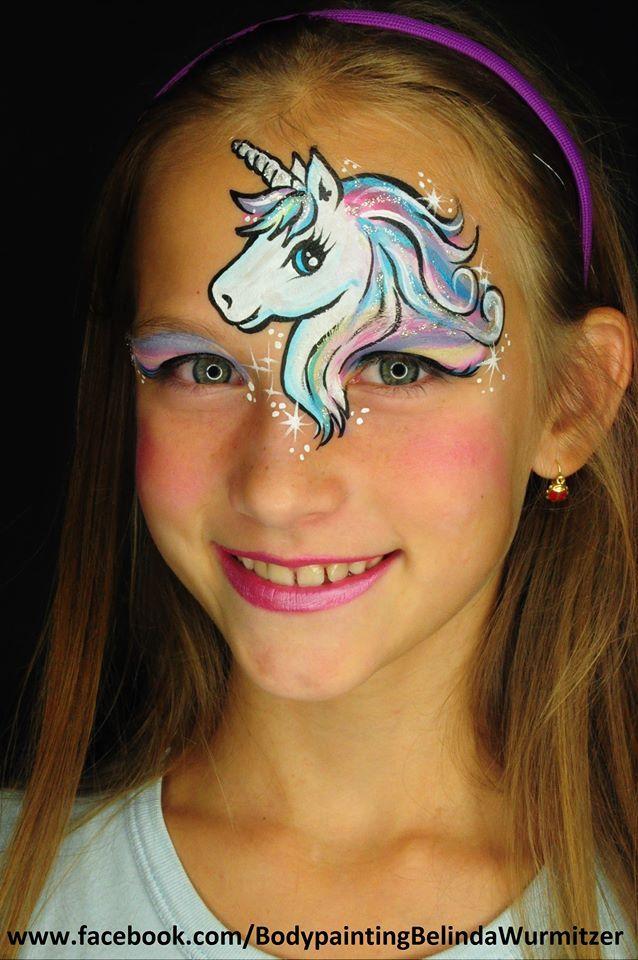 best 25 unicorn painting ideas on pinterest face painting designs fasching clown schminken. Black Bedroom Furniture Sets. Home Design Ideas