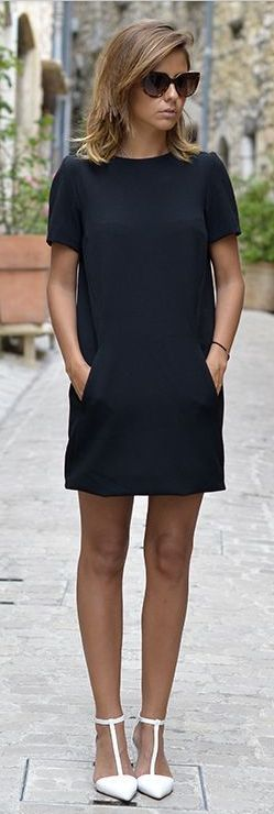 Sleek.  LOVE this but would like the sleeves and hem line a little longer!