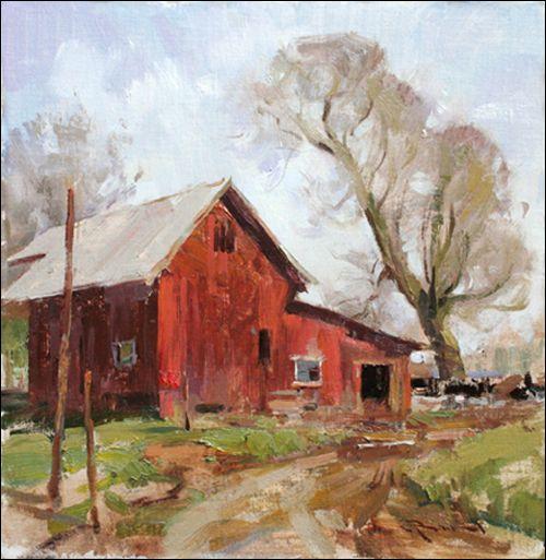 red barn by Mitch Baird