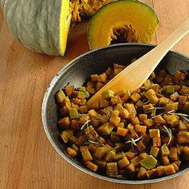Frittata al forno con zucca porri e rosmarino