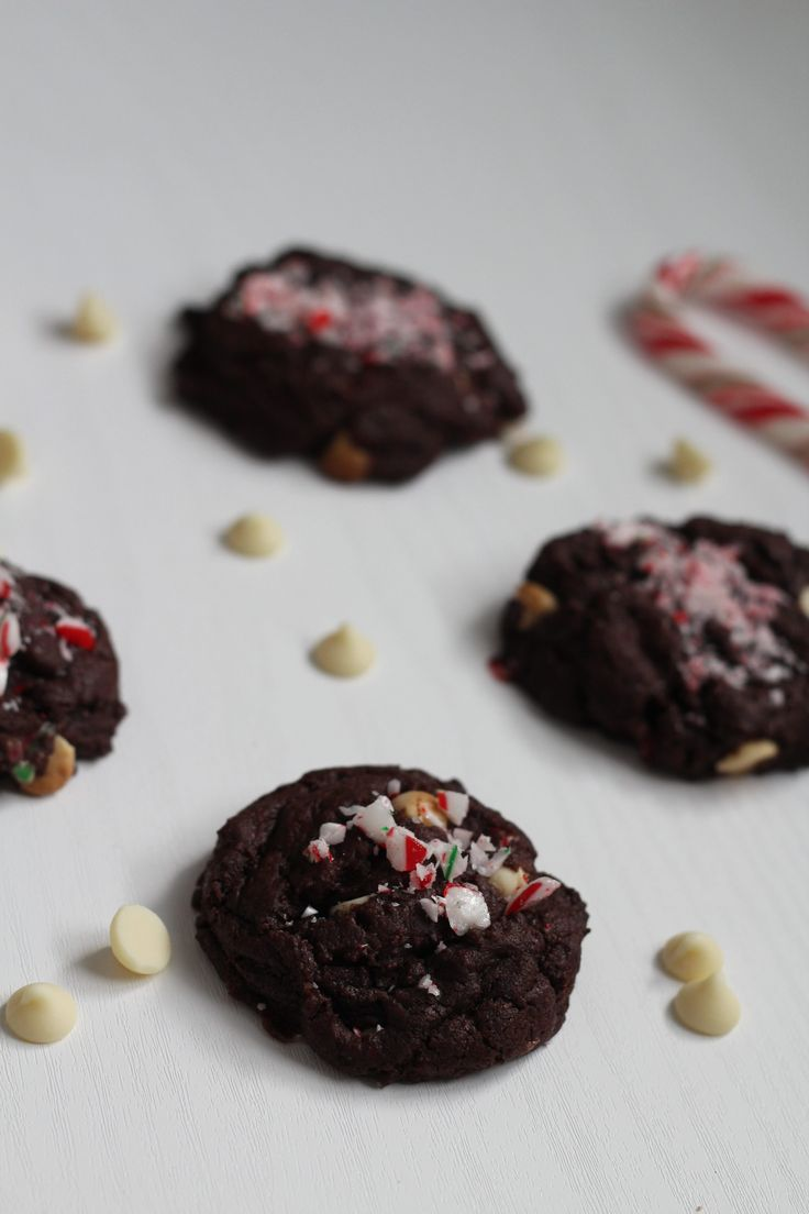 Double Chocolate Candy Cane Cookies - Hide The Cookie Jar A new Christmas Favourite! Perfect for the Holidays!