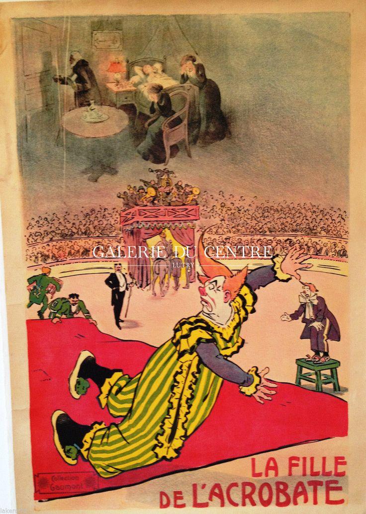 Cirque - Théatre : Affiche de 1900 - La fille de l'acrobate (GAUMONT)
