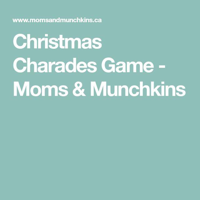 Christmas Charades Game - Moms & Munchkins