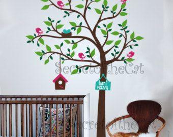 Articoli simili a Appartamento in vendita-tutti gli ordini nave 15 ago!! Vivaio parete Decal - Flower Blossom Tree - Baby Tree Decalcomanie Cherry Blossom Tree Decalcomanie da muro su Etsy