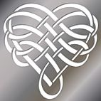 Free printable Celtic stencil patterns like this heart stencil example.