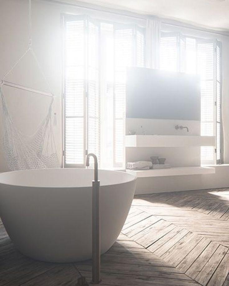 Meer dan 1000 idee n over houten vloer badkamer op pinterest badkamer grijze badkamers en vloeren - Badkamer houten vloer ...