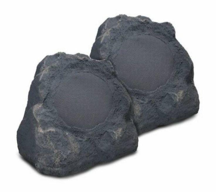 Bluetooth Outdoor Rock Speakers Garden Yard 100W Clear Premium Sound Slate Pair…