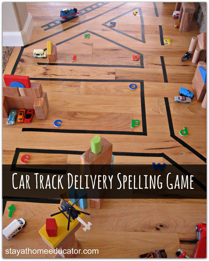 Car Track Delivery Spelling Game
