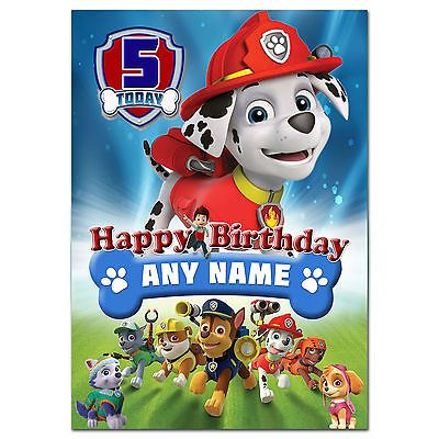 Best 25 Paw patrol birthday card ideas – Large Personalised Birthday Cards