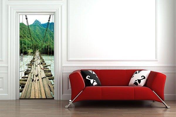 Sticker Porte La Jungle par Izoa. Sticker Door Jungle by Izoa. #jungle #door #wallpaper #decor