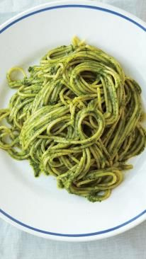 Ligurian Pesto With Spaghetti Recipe — Dishmaps