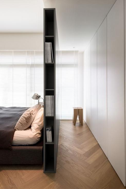 Chambre minimaliste rangement