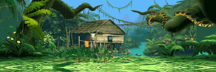 Street Fighter Alpha 3, Blanka stage.