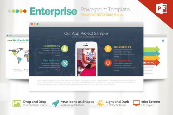 Enterprise | Powerpoint Template by Slidedizer on @creativemarket