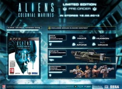 Aliens: Colonial Marines Pre-order Limited Edition (PS3)