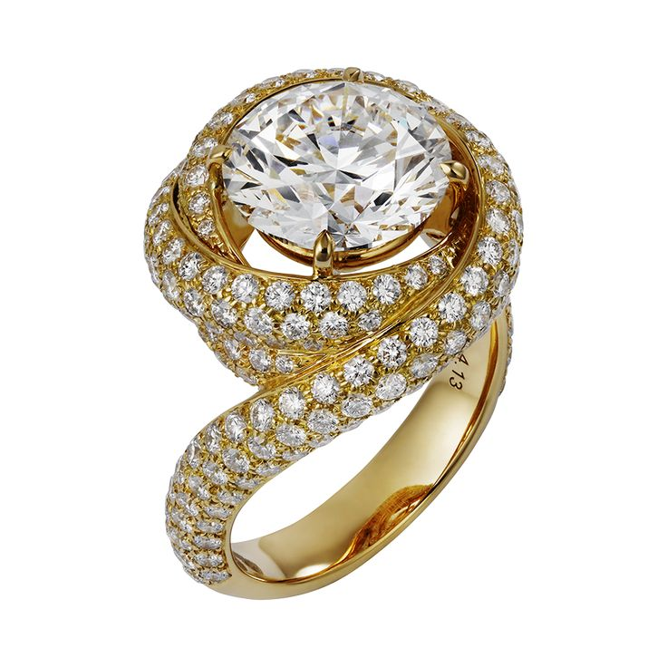 Cartier Trinity Ruban Solitaire Ring (=)
