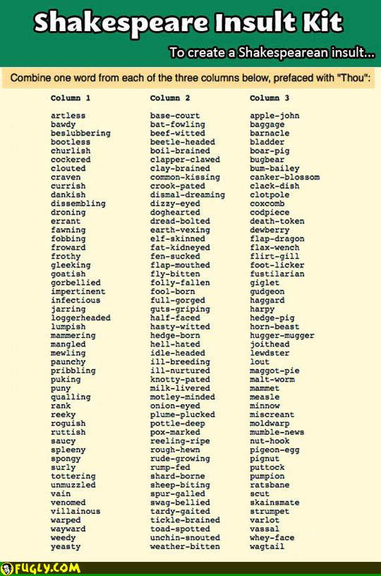 The Shakespeare Insult Generator