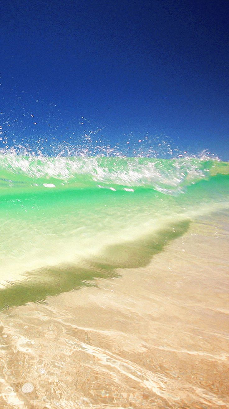 Clear Water Wave Beach iPhone 6 Wallpaper