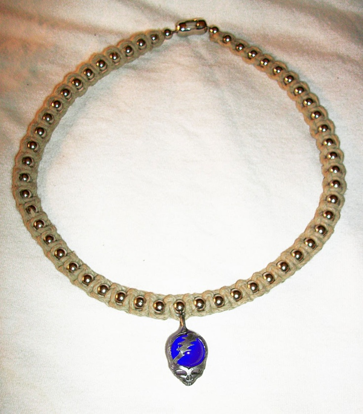 186 best hemp jewelry images on pinterest hemp jewelry hemp customizable phat ball chain natural hemp necklace shown with lightning bolt skull pendant steal your face hemp jewelry aloadofball Images