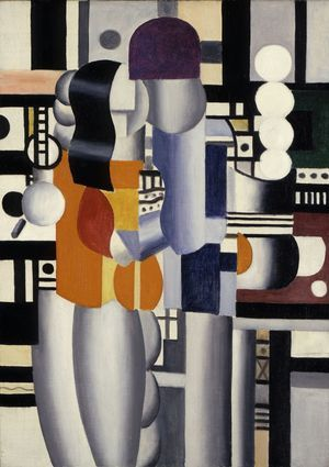 "Fernand Leger (French, 1881-1955), ""Man and Woman,"" 1921; Indianapolis Museum of Art, Martha Delzell Memorial Fund, 52.28; © Artists Rights Society (ARS), New York / ADAGP, Paris"