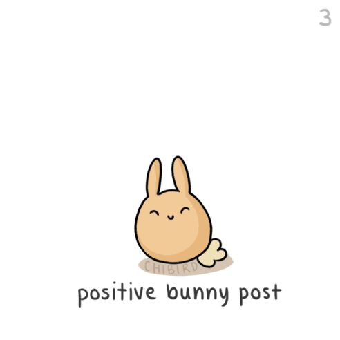 A good attitude is the right way to start a day!  Here is a little bunny to help you along your way! ^w^