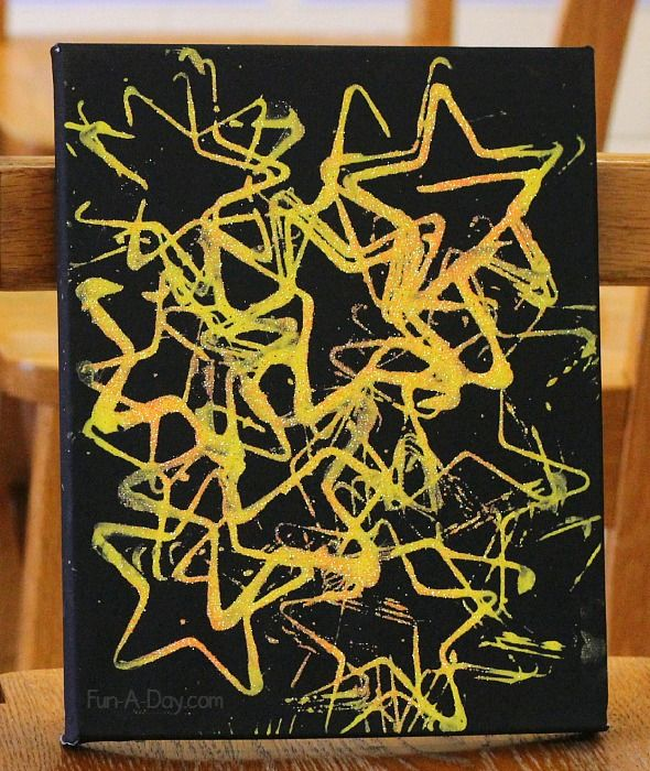 Art for preschoolers - nighttime art that even glows under a black light!  used for story of God's promise to Abraham