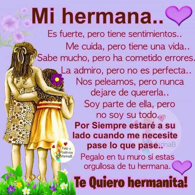 Imagen Con Frases De Amor Para Una Hermana Frasecitas Love